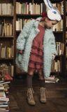 Mouse in a House AW18 Kabát z umelej kožušiny mentolový