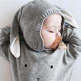 Organic Zoo AW18 Sivý Pulóvrik Bunny Grey Sweatshirt Zajačik