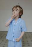 Amiki Samuel Blue Stripes PJs