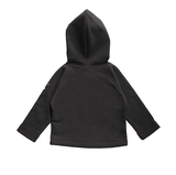 Gray Label SS19 Baby Hooded Cardigan Nearly Black