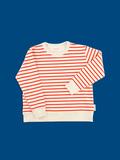 tinycottons SS18 Pulóver Small Stripes FT Karmínovo-Červený