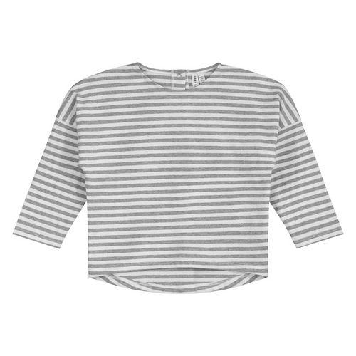 Gray Label SS19 Prúžkované tričko Sivo-biele