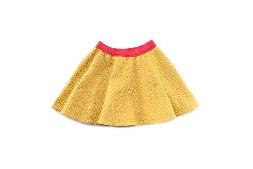 Macarons Sukňa Sophie Relief Blocks Žlto-Červená