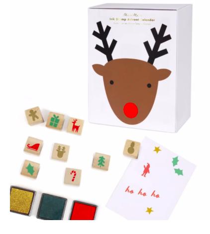 Meri Meri AW19 Adventný kalendár s vianočnými pečiatkami