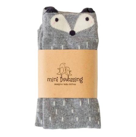 Mini Dressing Podkolienky Racoon Sivé