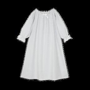 Amiki AW17 Nočná Košeľa Victoria Sivá s Bielymi Bodkami