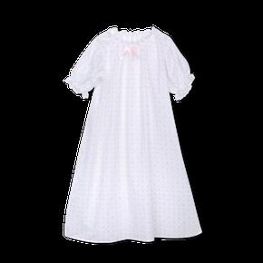 Amiki SS18 Nočná Košeľa Vanessa Biela so Srdiečkami