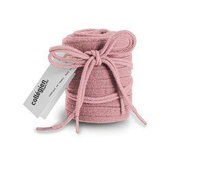 Collegién Podkolienky + Šnúrky do topánok púdrovo ružové