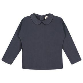 Gray Label AW17 Tričko s golierikom Tmavomodré