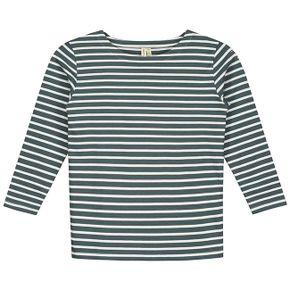 Gray Label SS18 Prúžkované tričko Modrosivo-biele