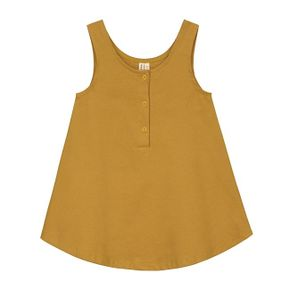 Gray Label SS18 Šaty bez rukávov Horčicovožlté