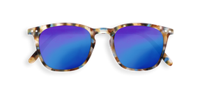 Izipizi Adults #E Sun Blue Tortoise so zrkadlovými sklami pre dospelých