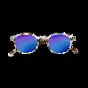 Izipizi #C Junior Sun Blue Tortois so zrkadlovými sklami