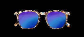 Izipizi #E Junior Sun Blue Tortoise so zrkadlovými sklami