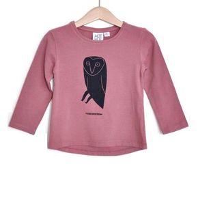 KaiKai Tričko so sovou Ružové