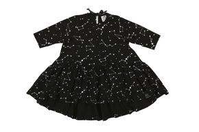 Kukukid AW17 Šaty s Dlhým Rukávom Black Constellation