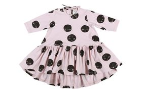 Kukukid AW17 Šaty s Dlhým Rukávom Pale Pink Moon