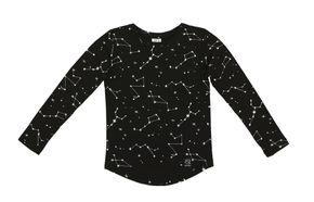 Kukukid AW17 Tričko s Dlhým Rukávom Black Constellation
