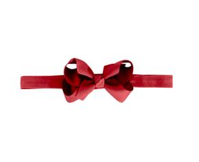 Milledeux Elastická Čelenka Červená so Stredne-Veľkou Mašľou