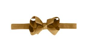 Milledeux Elastická Čelenka Okrovo-Žltá so Stredne-Veľkou Mašľou