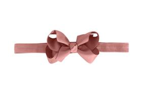 Milledeux Elastická Čelenka Púdrová Ružová so Stredne-Veľkou Mašľou