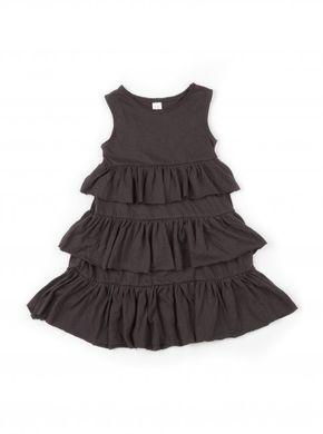 Mini Dressing Šaty Bohemian Piece Tmavosivé