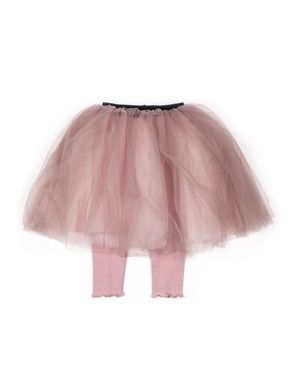 Mini Dressing Tutu sukňa s legínkami Púdrová