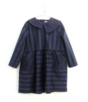 Motoreta Šaty Yumiko Modro-Čierne