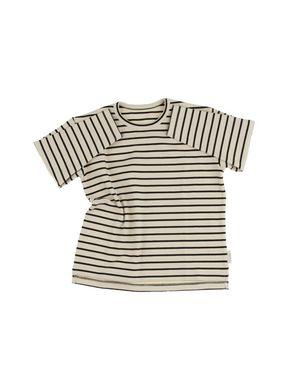Tiny Cottons Altiplano Prúžkované Tričko s Dlhým Rukávom Béžovo-Čierne