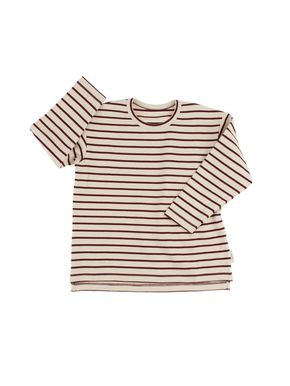 Tiny Cottons Altiplano Prúžkované Tričko s Dlhým Rukávom Béžovo-Bordové