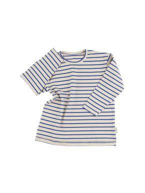 Tiny Cottons Altiplano Prúžkované Tričko s Dlhým Rukávom Béžovo-Modré