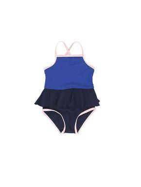 Tiny Cottons Dievčenské Plavky s volánikom modré