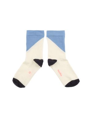 tinycottons SS18 Ponožky s geometrickým vzorom modré