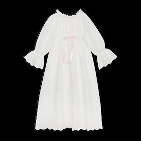 Amiki SS19 Nočná Košeľa Anette Biela