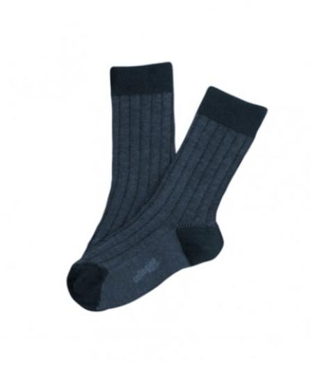 Collegién Ponožky Grain de Caviar Tmavomodré