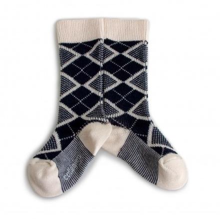 Collegién Ponožky Heritage 70 Modro-Krémové