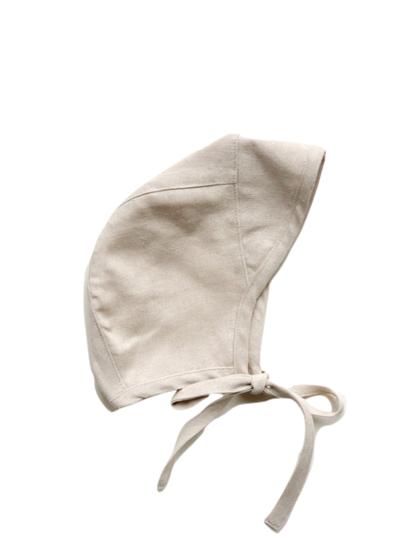 Diobo Čepček z ľanovej zmesi krémový Fedor