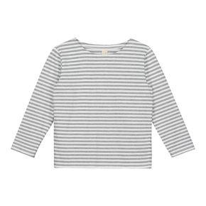 Gray Label AW17 Prúžkované tričko Sivo - Biele