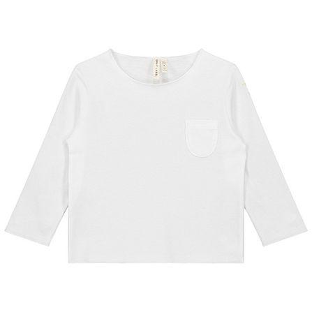 Gray Label AW17 Tričko s vreckom Biele
