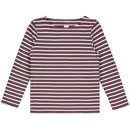 Gray Label AW18 Prúžkované tričko Bordovo - Biele