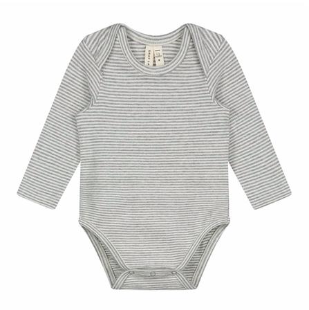 Gray Label AW19 Baby Body Prúžkované Krémovo-Sivé
