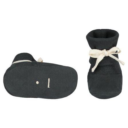 Gray Label AW19 Prvé Topánočky s vrúbkovanou obrubou - takmer čierne