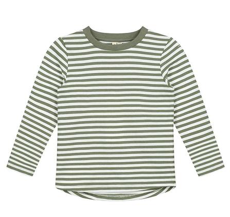 Gray Label AW19 Tričko s Dlhým Rukávom Prúžkované Machovo-Zelené