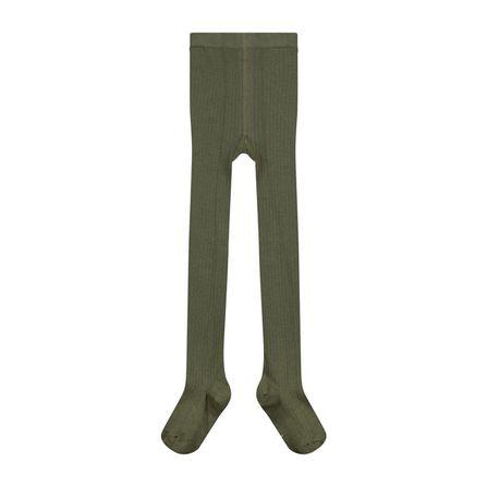 Gray Label AW19 Vrúbkované Pančušky Machovo-zelené