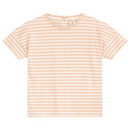 Gray Label SS19 Oversize Tričko Prúžkované Marhuľovo-Biele