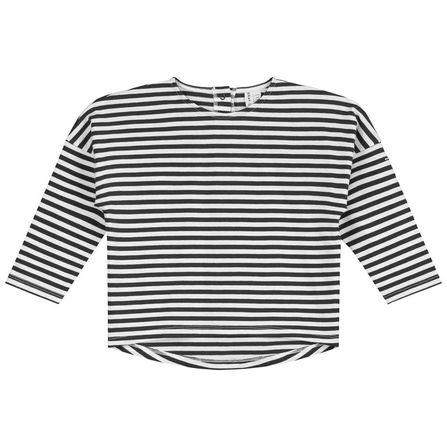 Gray Label SS19 Prúžkované tričko Čierno-krémové