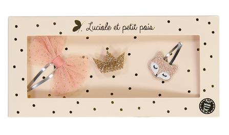 Luciole et Petit Pois Darčekové balenie - Sada Sponiek Pink Fox