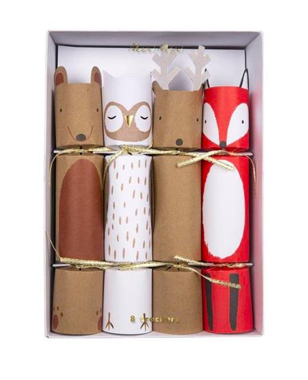 Meri Meri AW19 Vianočné balíčky s prekvapením lesné zvieratká