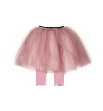 Mini Dressing Tutu Sukňa Sha s Legínkami Púdrová Ružová