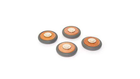 TEGU Magnetické drevené kolieska - 4 ks